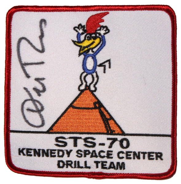 image STS-70 Kennedy Space Centre Drill Team Mission Patch Signed by Don Thomas
