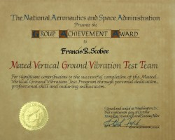 NASA Group Achievement Award Presented to Francis Scobee