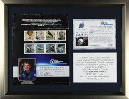 Isle of Man First Day Cover Signed by Tim Peake Commemorating 150 Years of the Royal Aeronautical Society