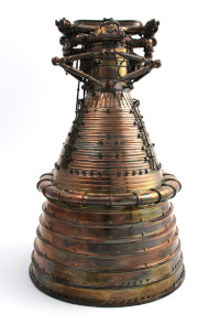 Gold Plated Saturn V F-1 Engine Model