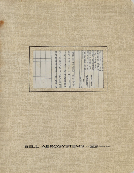 image Bell Aerosystems Inspection Record Documentation Pack, including a 'Statement of Flight Worthiness'