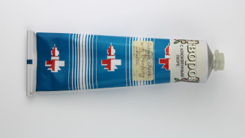 Russian Space Food – Tube of Cottage Cheese with Cranberry Puree