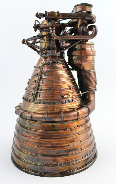 image Gold Plated Saturn V F-1 Engine Model