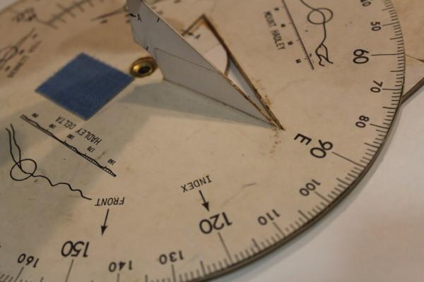 image Apollo 15 Training Sun Compass - gnomon can be seen raised
