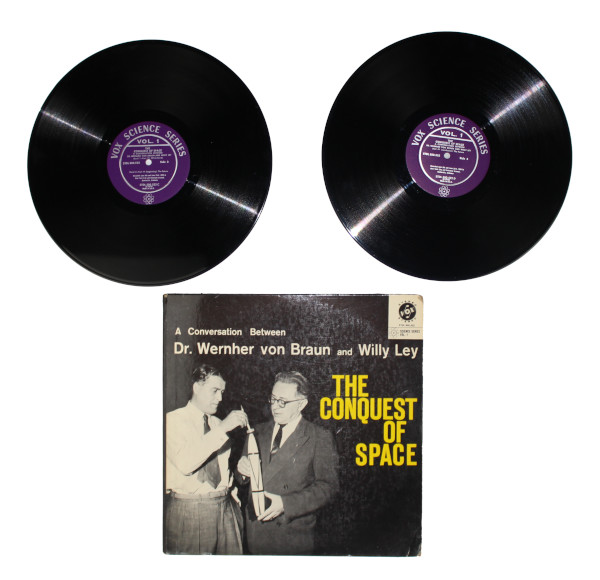 image The Conquest of Space Vinyl Records and Sleeve