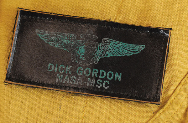 image Name tag on Dick Gordon's Apollo-era NASA flightsuit
