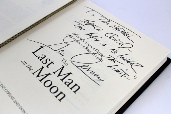 image 'The Last Man on the Moon' Hardback Book Signed by Gene Cernan
