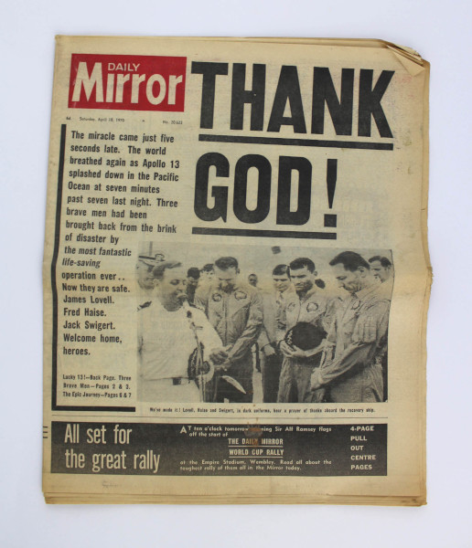 image Daily Mirror 18 April 1970 - Front Page