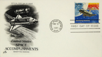 Space Accomplishments Commemorative Issue 'Benefitting Mankind' First Day Cover