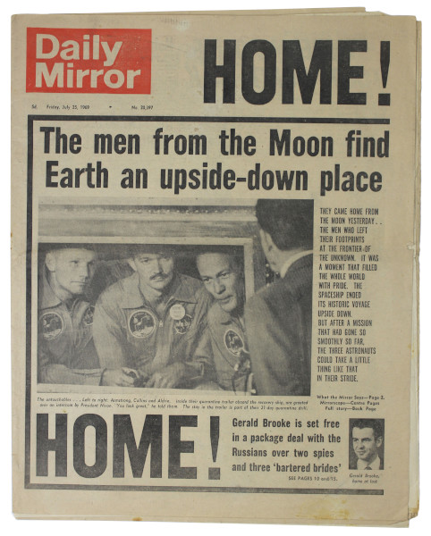 image Daily Mirror July 25 1969 (front page)