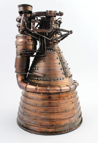 image Gold Plated Saturn V F-1 Engine Model