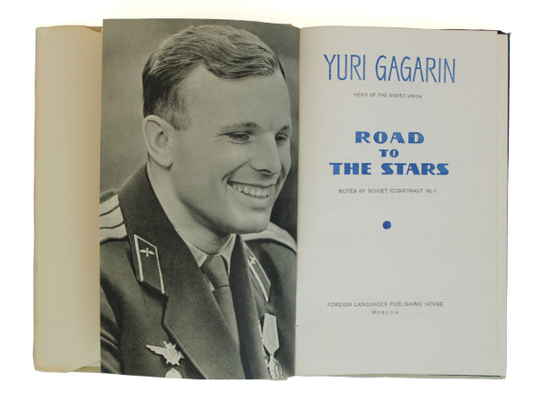 image Helen Sharman's spaceflown signed copy of Yuri Gagarin's autobiography