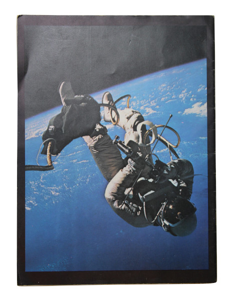 image Back cover: Ed White during the 21 minute spacewalk he made on the Gemini 4 mission.