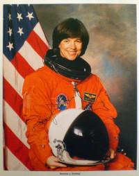 Signed photograph of Bonnie J. Dunbar