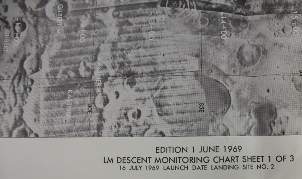 image Apollo 11 Lunar Module Descent Monitoring Chart - detail