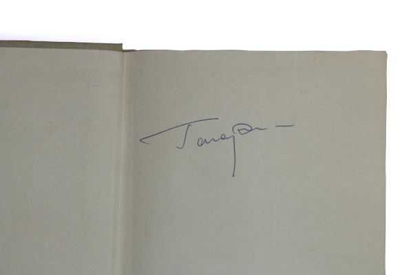 image Helen Sharman's spaceflown signed copy of Yuri Gagarin's autobiography - Yuri Gagarin's signature on the inside cover