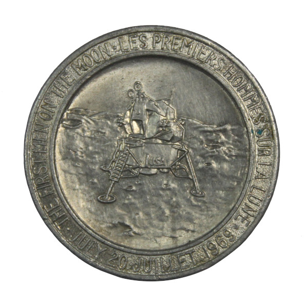 image Canadian Apollo 11 Commemorative Coin (reverse)