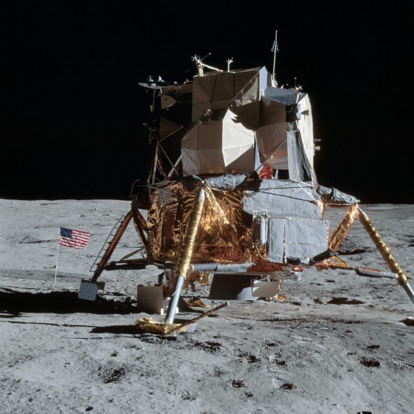 image The Apollo 14 Lunar Module on the Moon - Credit: NASA