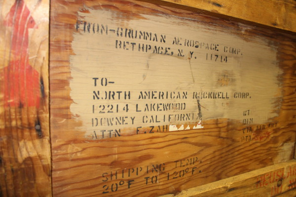 image Lunar Module Reaction Control System Oxidizer Tank Shipping Crate, showing delivery details
