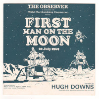 'First Man on the Moon' 45rpm Vinyl Record Narrated by Hugh Downs