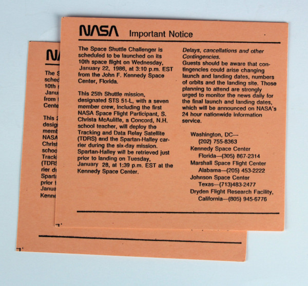 image 2 NASA Important Notice cards