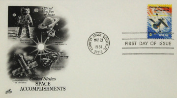Space Achievement Commemorative Issue 'Comprehending the Universe' First Day Cover