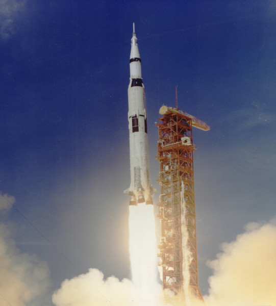image Saturn V launch - Credit: NASA