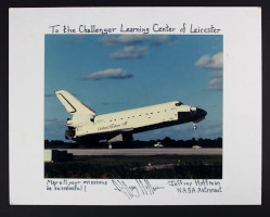 Presentation Photograph of Space Shuttle Atlantis Inscribed by Jeffrey Hoffman