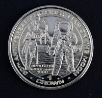 Isle Of Man 30th Anniversary Apollo 11 One Crown Coin