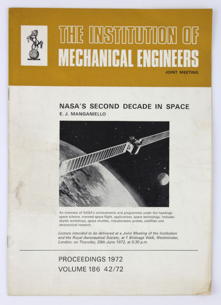 image Proceedings from The Institution of Mechanical Engineers Joint Meeting, 1972 (front)