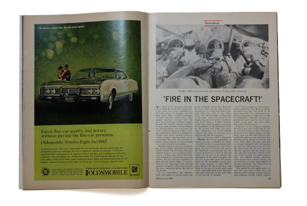 image Newsweek Magazine 6 February 1967 - 'Fire in the Spacecraft' article