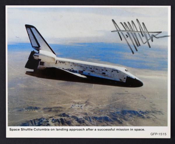 image Postcard Signed by Jeffrey Hoffman