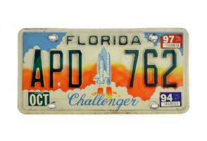 Challenger Vehicle Registration Plate