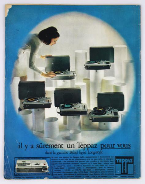 image Paris Match Magazine, No. 1058, 16 August 1969 (back)