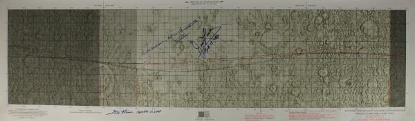 Apollo 13 Signed Lunar Orbit Chart
