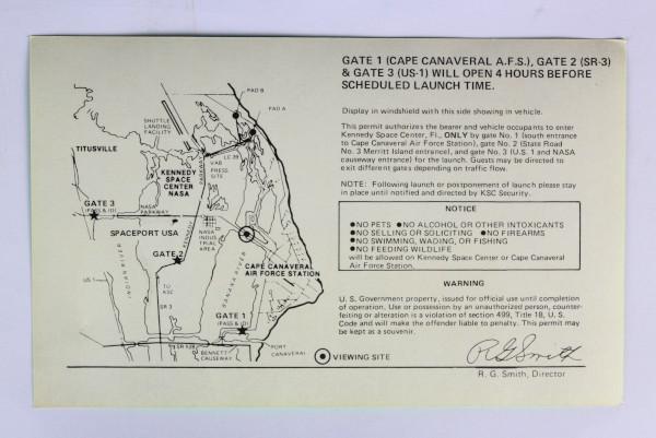 image NASA causeway vehicle permit - back