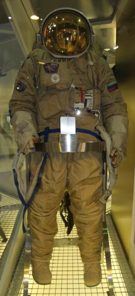 image Orlan DMA EVA Spacesuit - controls on the front allow pressure, oxygen and temperature to be adjusted inside the suit