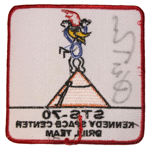 image STS-70 Kennedy Space Centre Drill Team Mission Patch (back)