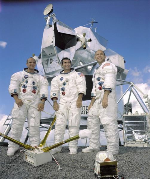 image Apollo 12 crew from left to right; Pete Conrad, Richard Gordon, Alan Bean - Credit: NASA