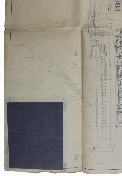 image Blue Streak Missile Schematic Drawing - note how the key has been blacked out