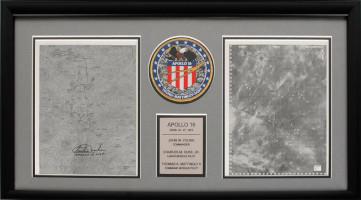 Apollo 16 EVA Charts Signed by Charlie Duke