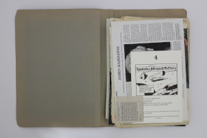 Folder Containing 'Behind the Bleep' Script, Press Cuttings, and Correspondence