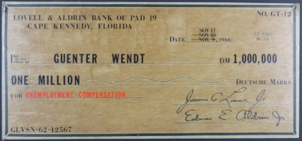 Novelty Cheque Payable to Guenter Wendt