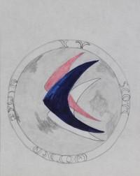 Emilio Pucci Concept Sketch for Apollo 15 Mission Patch