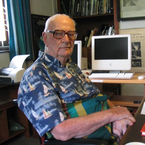 image Sir Arthur C. Clarke at his home in Colombo, Sri Lanka - Credit: Amy Marash