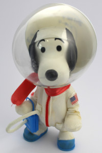 Signed Astronaut Snoopy Doll and Box