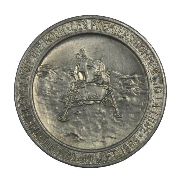 image Canadian Apollo 11 Commemorative Coin (reverse)