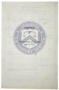 U.S. Customs Declaration, Signed by the Returning Apollo 11 Crew