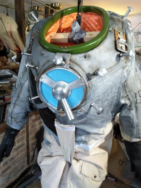 image British Interplanetary Society Lunar Spacesuit; work in progress - Credit: Ancient Wisdom