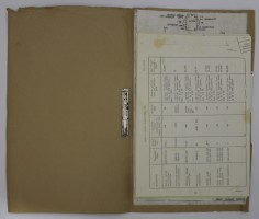Brown File Containing Wiring Diagrams and Soyuz Transmitters Data Sheet